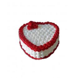 Cake en forma de corazón...