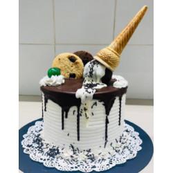 Cake de helado de chocolate