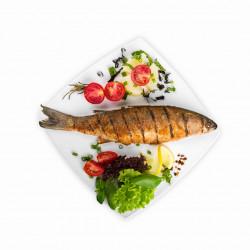 Cena pescado al carbon 10...