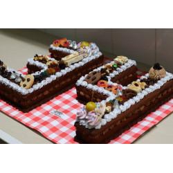 Cake de números dobles