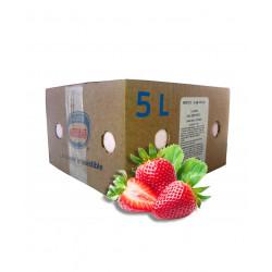 Helado sabor fresa en caja...